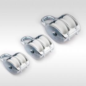 15mm Seilrolle Doppelt mit Öse - Seilblock - Blockseilrollen verzinkt