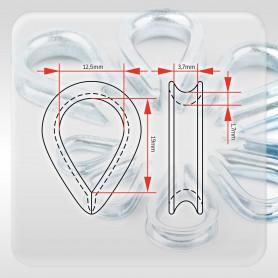 3mm Seilkausche - Kauschen verzinkt für Drahtseil 3mm DIN 6899B (ab 5 Stück)