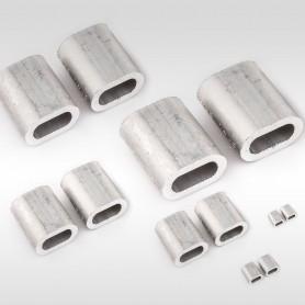 1mm - 12mm Aluminium Pressklemmen - Presshülsen für Drahtseil (ab 5 Stück)
