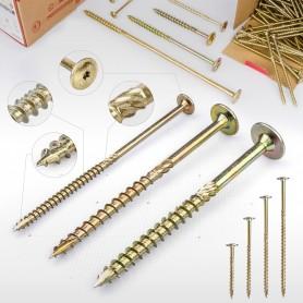 6 x 120mm Tellerkopfschrauben - Holzbauschraube Tellerkopf TX Antrieb (ab 50 Stück)