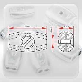 2mm Drahtseilklemme Eiform - Aluminium Klemmen für Drahtseil 2mm