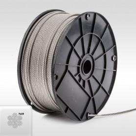 Edelstahlseil 3mm (7x19) - 5 bis 200m Drahtseil INOX AISI316 ISO2408
