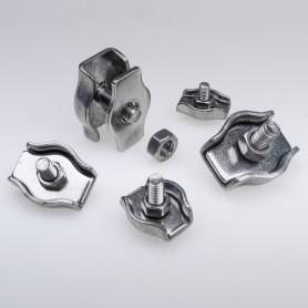 3mm Simplex Drahtseilklemme Edelstahl  - A4 INOX 316 AISI 316 Klemmen für Drahtseil 3mm