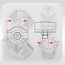 2mm Drahtseilklemme Simplex - verzinkt Klemmen für Drahtseil 2mm