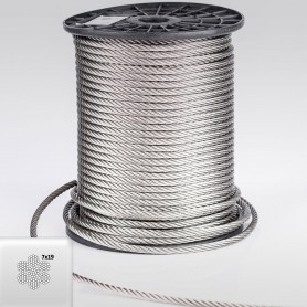 Edelstahlseil 10mm (7x19) - 5 bis 70m Drahtseil INOX AISI316 ISO2408