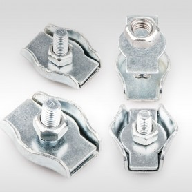 3mm Drahtseilklemme Simplex - verzinkt Klemmen für Drahtseil 3mm