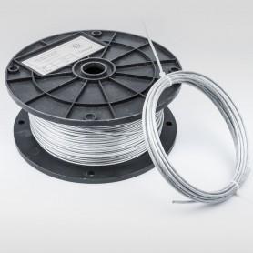 Drahtseil 4mm verzinkt PVC ummantelt transparent (Draht 3mm - 6x7+FC) 5m bis 200m DIN 3055 Stahlseil 4 mm