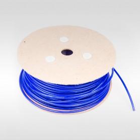 Drahtseil 4mm verzinkt PVC ummantelt blau (Draht 2mm - 1x19) 10m bis 200m Stahlseil 4 mm