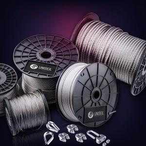 Edelstahlseil 3mm (7x7) - 5 bis 200m Drahtseil INOX AISI316 ISO2408 Stahlseil Edelstahl 3 mm