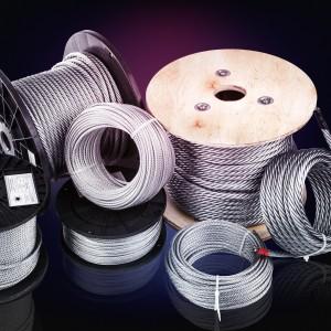 Drahtseil 2mm (6x7+FC) 200m DIN 3055 Stahlseil verzinkt 2 mm
