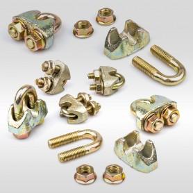 12mm Sicherheits-Drahtseilklemme Bügel EN 13411-5 - Klemmen für Drahtseil 12mm