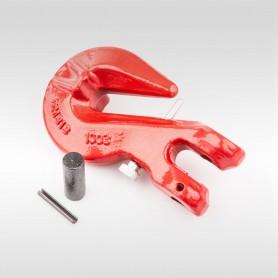 13mm Parallelhaken mit Sicherung WLL 5,3t - Verkürzungshaken mit Gabelkopf  - 5300kg Güteklasse 8