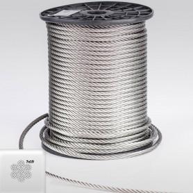 Edelstahlseil 8mm (7x19) - 5 bis 100m Drahtseil INOX AISI316 ISO2408
