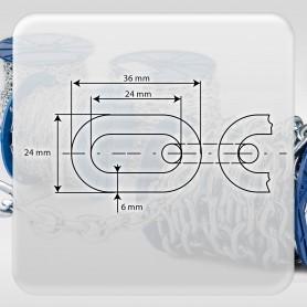 6mm Stahlkette DIN 5685A - kurzgliedrig Rundstahlkette (Meterware: 1m - 18m)