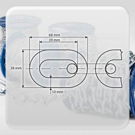 10mm Stahlkette DIN 5685A - kurzgliedrig Rundstahlkette (Meterware: 1m - 10m)
