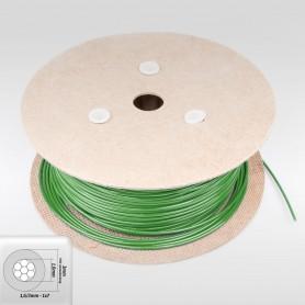 Drahtseil 3mm verzinkt PVC ummantelt grün (Draht 1,6mm - 1x7) 10m bis 200m Stahlseil 3 mm