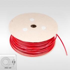 Drahtseil 4mm verzinkt PVC ummantelt rot (Draht 2mm - 1x19) 10m bis 200m Stahlseil 4 mm