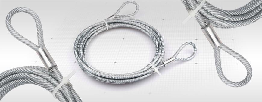 Stahlseil mit Ösen (PVC Ummantelt)
